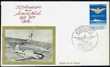 CHILE FDC COVER 1973 # 828 NAVY AVIATION AIRCRAFT