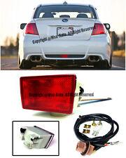 For 11-Up Impreza WRX STi 13-15 XV Crosstek JDM Red Lens Rear Fog Light Lamp