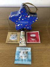 L'Occitane En Provence Tin With 10ml Amanda Handcream, 3 x 1,5ml Sachets, New