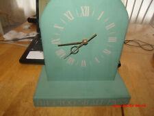 Vtg Wooden Quartz Shelf Clock. This Too Shall Pass