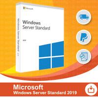 Microsoft Windows Server 2019 Standard 16-Core 64bit Vollversion, Retail.