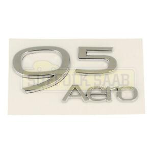 SAAB NEW 95 9-5 650 10-11MY AERO BADGE EMBLEM 12841801 NEW RARE CLASSIC PARTS