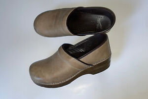 Dansko Professional Taupe Leather Clogs ~ EU 41 - 10.5-11 Women, 7.5-8 Men