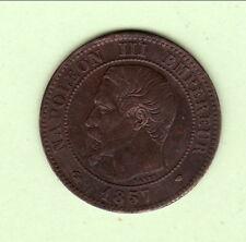 NAPOLEON III 2 CENTIMES 1857 MA TTB a SUP    RARE