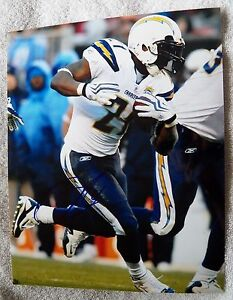 San Diego Chargers Ladainian Tomlinson Signed 8x10  Photo Auto