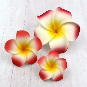 Lot Red Floating Frangipani Plumeria Hawaiian Flower Heads Wedding 5/6/9cm