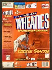 Ozzie Smith Signed Cereal Box Wheaties Baseball Autograph STL Cardinals HOF JSA