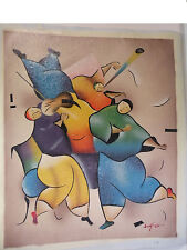 CHAGAL Art canvas color Hand oil paint Modern Abstract Picture Duotone 24x20 new