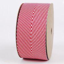 Red White Chevron Grosgrain Ribbon 25mm 1.5m