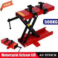 Motorcycle Bike Stand Center Scissor Lift Hoist Jack Lift Workshop Bench 500KG