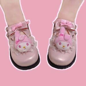 Lolita JK Uniform My Melody Girl Cosplay Shoe Cute Pink Princess Round Toe Shoes