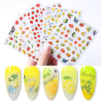 3D Nail Sticker Colorful Fruit Summer Series Nail Art Transfer Decals Decoration
