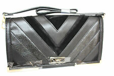 FIORELLI  TURNER BLACK PANEL MIX FLAPOVER CLUTH BAG RRP £55