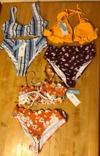 Lot of 3 CUPSHE Bikini Womens Size S 2-Piece Top Bottom Bathing Suit Swimsuit