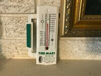 Vintage Tire-Mart Steel Advertising Thermometer Penn & Stanwix Pittsburgh PA