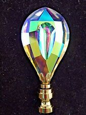 GORGEOUS  RAINBOW  CRYSTAL  ELECTRIC  LIGHTING  LAMP  SHADE  FINIAL      (NEW)