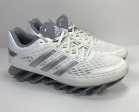 Adidas Spring Blade Sprint Web Mens Size 6 White Running Shoes New