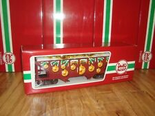 LGB 48760 RED 4-AXLE US STYLE CHRISTMAS HOPPER CAR BRAND NEW IN ORIGINAL BOX!