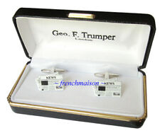 AUTHENTIC GEO F. Trumper Cuff Links PURCHASED LONDON Journalist NEWS Newspaper