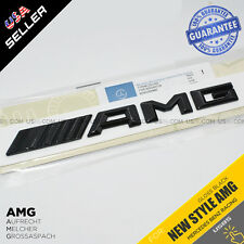 New Style AMG Emblem 3D ABS Gloss Black Trunk Logo Badge Decoration Gift