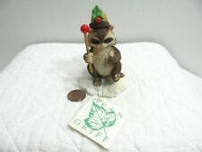 Charming Tails Silvestri The Drum Major Raccoon Figurine 87556 Christmas Griff