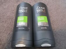 LOT OF 2 DOVE MEN CARE EXTRA FRESH BODY&FACE WASH 13.5 OZ EACH