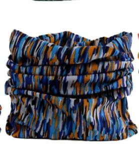 FACE MASK Sun Shield Balaclava Bandana Scarf - Blue & Orange (1 Pack)