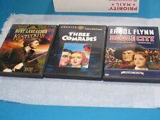 3 Dvd'S - Like New - Classics - Dodge City/Three Comrades/The Kentuckian/ Fr Shp