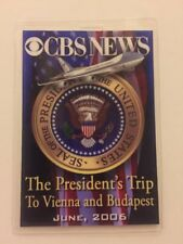 2006 President George W. Bush CBS NEWS Press Pass Trip to Vienna & Budapest