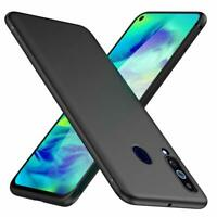 For Samsung Galaxy A60 Case Slim Soft Silicone Gel Cover - Matte Black