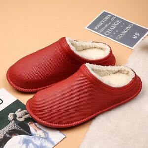 Mens Slippers Shoes Warm Winter Rubber House Outdoor Non Slip Men Women soft New