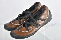 PRIVO by CLARKS Women's Brown Leather Mary Jane Slide Shoes Size 6.5 M 76227