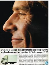 Publicité Advertising 1989 Camion Fourgon VW Volkswagen LT 35