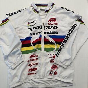 Vintage Cannondale Volvo Mountain Bike World Champion Jacket Size Large Full Zip