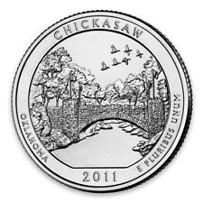 2011 P America the Beautiful 5oz Silver Coin - Chickasaw National Rec. Area,