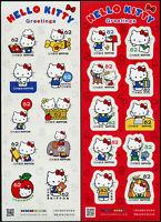 Japan 2018 Hello Kitty Comics Cartoons 9077-9096 Keinbogen Postfrisch MNH