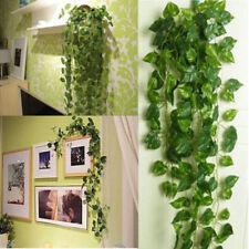 New Artificial Ivy Fake Foliage Leaf Plants Garland Garden Home Decoration 2M