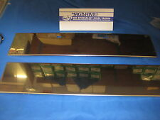 MGB PAIR STAINLESS STEEL FRONT & REAR NUMBER PLATE BACKINGS 1962 to 1974 ***X1B