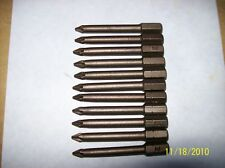 """Phillips bits, 2"""" long, MADE IN USA- 10 qty"""