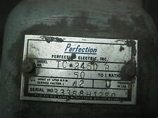REDUCER, GEAR TC 2450 B TC2450B 50 TO 1 RATIO 42 SERVICE FACTOR PERFECTION