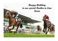 Horse Racing A5 Birthday Card Personalised Brother Dad Grandad Mum Uncle Cousin