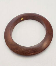 KJL Brand Polished Wooden Boho Style Bangle Bracelet