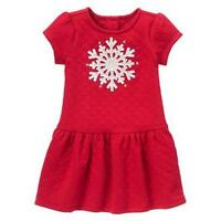 NWT Gymboree Girls HOLIDAY SHOP Holly Red Quilted Snowflake Dress Sizes 2T 3T 4T