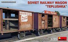 "MiniArt Soviet Railway Wagon ""Teplushka"", 1:35 Bausatz Model Kit 35300 Diaroma"