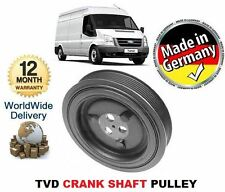 FOR FORD TRANSIT 2.4 TDCi & VAN BUS CHASSIS 2006--> TVD CRANK SHAFT PULLEY