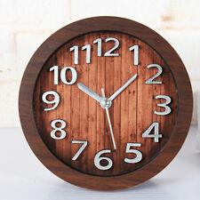 Desktop Clock Vintage Alarm Clocks Watch Silent 3d Silver Sticker