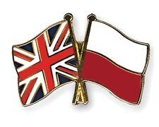 United Kingdom & Poland Friendship Flags Enamel Lapel Pin Badge