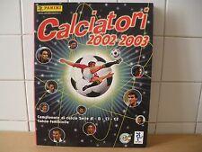 Calciatori 2002 - 2003  Album di figurine completo  Panini (HOM)