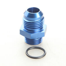 AN10 AN-10 Male Flare To AN8 AN-8 Straight Cut Adapter with O-Ring Aluminum Blue