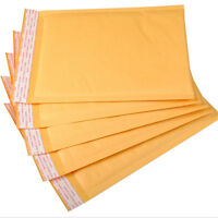 10/50/100Pcs Kraft Bubble Mailers Envelopes Padded Bags Shipping Self-Seal Bags